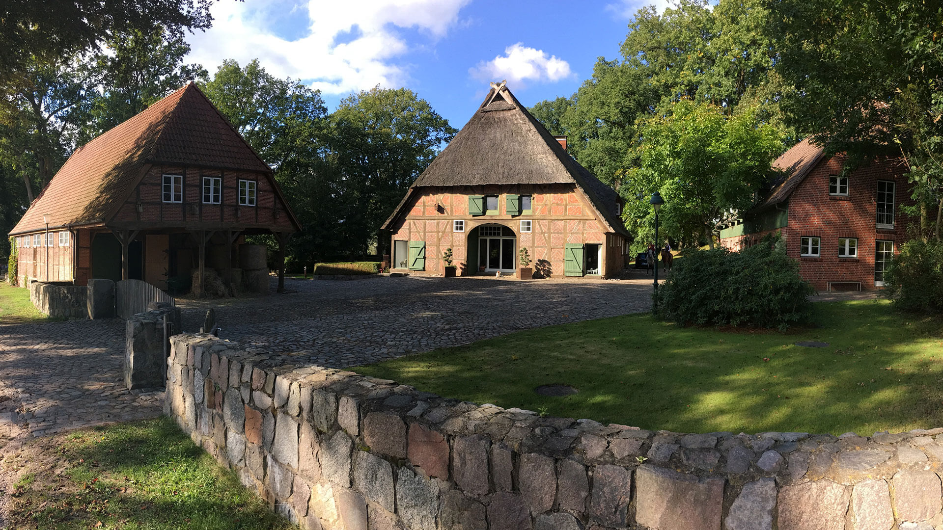 Courtyard of Heinshof farm