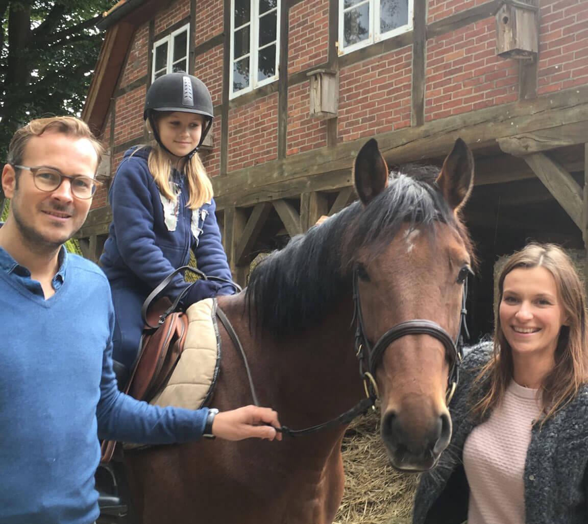 Reiterurlaub mit der ganzen Familie auf dem Heinshof